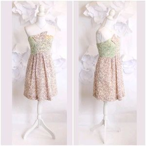 SEE BY CHLOE Strapless Ditsy Floral Party Dress 6